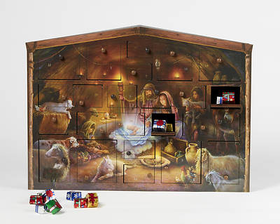 Picture of Wooden Nativity Advent Calendar
