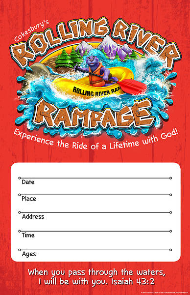 Vacation Bible School (VBS) 2018 Rolling River Rampage Large Promotional Poster