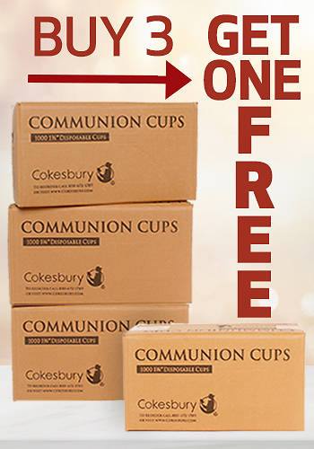 Cokesbury Disposable Communion Cups 1 3/8