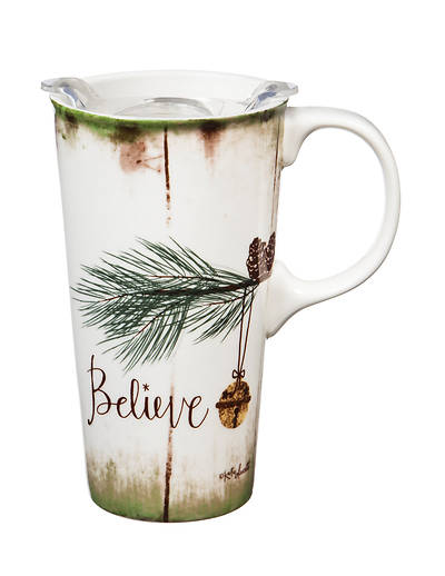 Picture of Believe - Ceramic Travel Cup with Tritan Lid, 17 OZ.