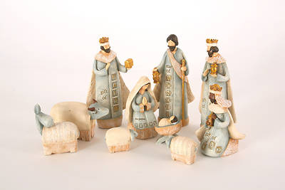 Picture of 10 PC Stamped Nativity Set 7.5""