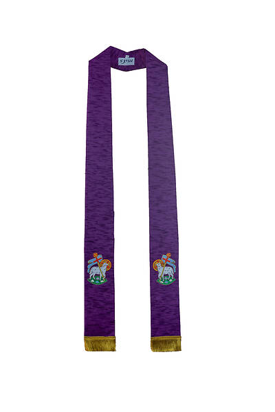 MDS Purple Lamb of God Stole