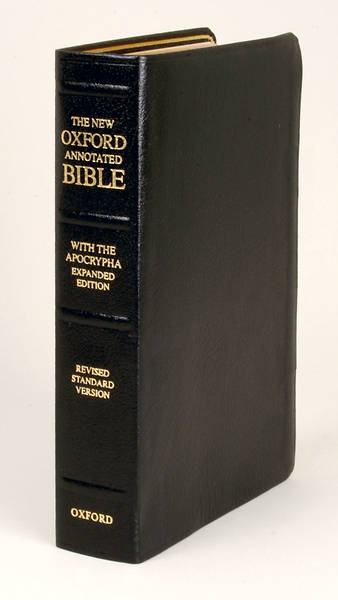 Picture of The New Oxford Annotated Bible with the Apocrypha Expanded Edition Revised Standard Version Black Leather