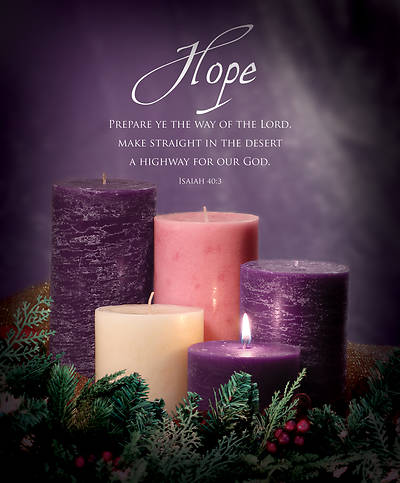Picture of Advent Bulletin Week 1 Isaiah 40:3 Legal