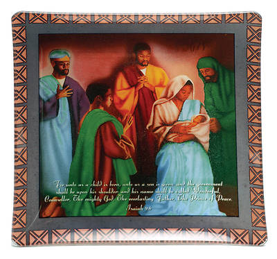 African American Expressions Gift Wall Plate – Wise Men Isaiah 9:6