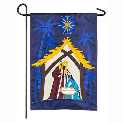 Picture of A Child Is Born Nativity Garden Applique Flag