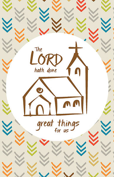 Picture of The Lord Hath Done Great Things for Us Anniversary Regular Size Bulletin
