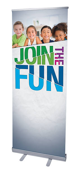 VBS Join the Fun RollUp Banner with Stand