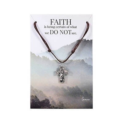 """Picture of Jesus Cross Extendable Necklace 15""""-30"""""""