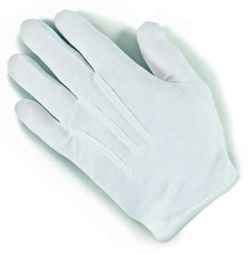 Plastic Dot Handbell White Medium Gloves