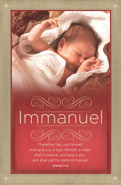 Shall Call His Name Immanuel Christmas Bulletin - Pack of 100