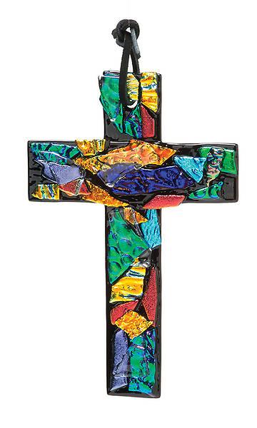 "Picture of 6"" Revelation Cross Multi on Black Glass"