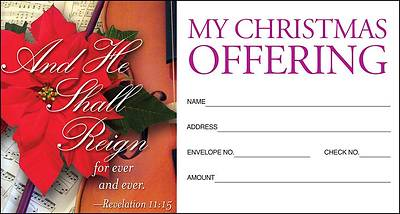Christmas Music/And He Shall Reign Offering Envelope 2011 (Package of 50)