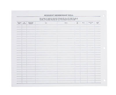 Church Membership Record Loose - Leaf Sheets