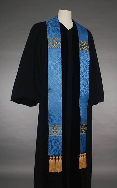 Picture of 7000 Series Bemberg Tassled Blue Stole