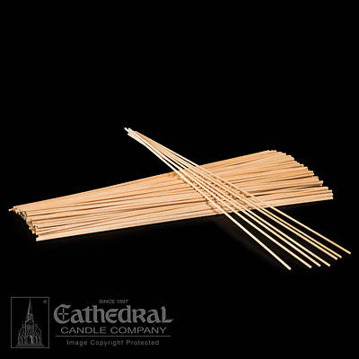 Picture of Cathedral Thin Wood Lighting Tapers