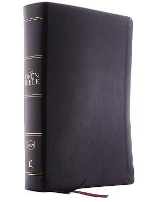 The NKJV, Open Bible, Imitation Leather, Black, Red Letter Edition, Comfort Print