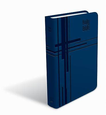 CEB Common English Premium Gift Bible Decotone Indigo Cross