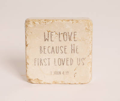 We Love Because Stone Plaque