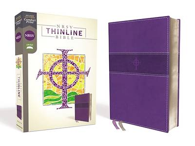 Picture of NRSV Thinline Bible, Leathersoft, Purple, Comfort Print