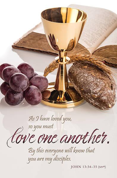Picture of Bible, Gold Cup Regular Bulletin John 13:34-35