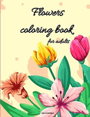 Picture of Flowers coloring book for adults