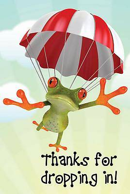 Thanks for Dropping In! Frog Postcard (Pkg of 25)