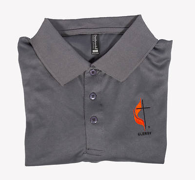 Picture of Polo Shirt - Small Clergy Cross and Flame