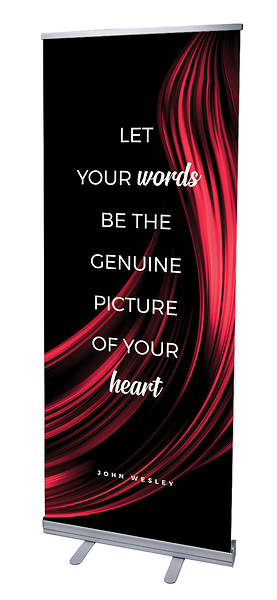 Let Your Words Color Swirl Words of Wesley Rollup Banner
