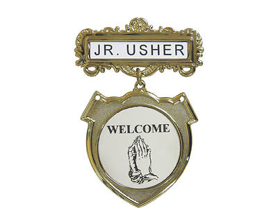 Gold Junior Usher Welcome Shield Badge
