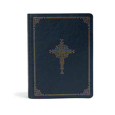 Picture of CSB Ancient Faith Study Bible, Navy Leathertouch, Indexed