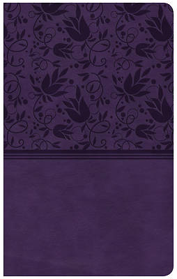 Picture of CSB Compact Ultrathin Reference Bible, Purple Leathertouch, Indexed