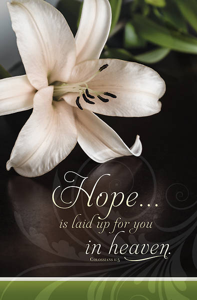 Picture of Hope is Laid Up Funeral Regular Size Bulletin (Pkg of 100)