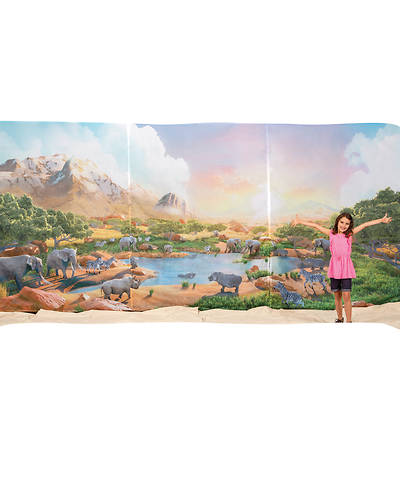 Vacation Bible School (VBS19) Roar Fabric Wall Hanging (set of 3 panels, approx. 18 ft. x 8 ft.)