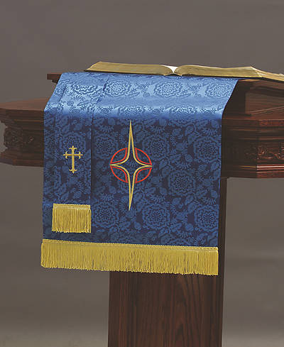 Picture of Abbott Hall TRN Blue Star Cross Two-Piece Parament Set
