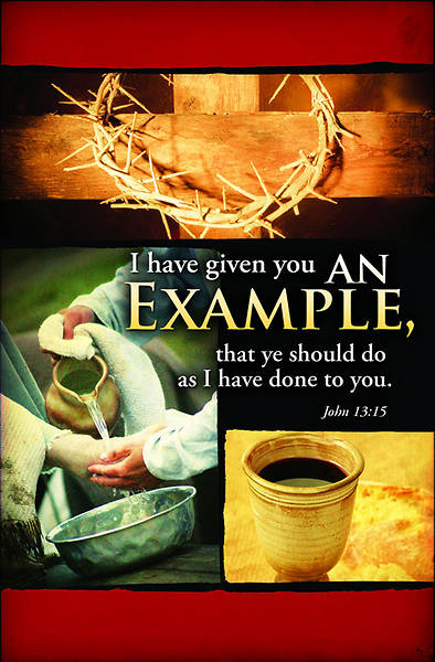An Example/John 13:15 Maundy Thursday Bulletin, Regular (Package of 100)