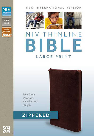 NIV Thinline Zippered Collection Bible, Large Print