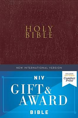 Picture of NIV Gift and Award Bible, Leather-Look, Burgundy, Red Letter Edition, Comfort Print