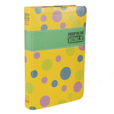 CEB Deep Blue Kids Bible Polka Dot Yellow
