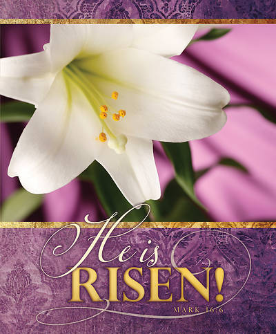 Picture of He is Risen! Easter Lily Legal Size Bulletin