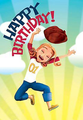 Deep Blue Kids Kat Happy Birthday Postcard (Pkg of 25)