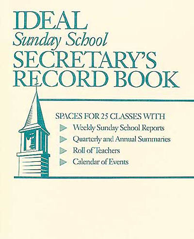 Ideal Sunday School Secretary Record Book