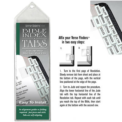 Verse Finder Bible Tabs - Slim Line Silver