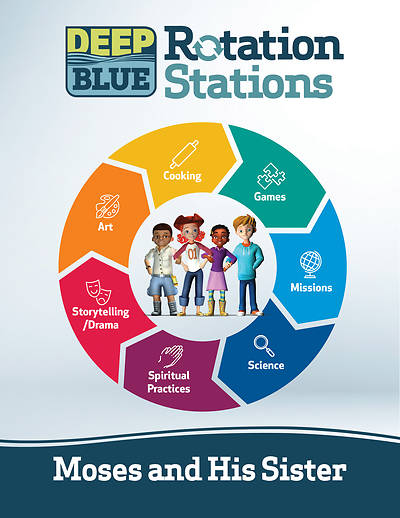 Picture of Deep Blue Rotation Stations: Moses and His Sister - Entire Unit Download