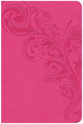 Picture of CSB Compact Ultrathin Reference Bible, Pink Leathertouch