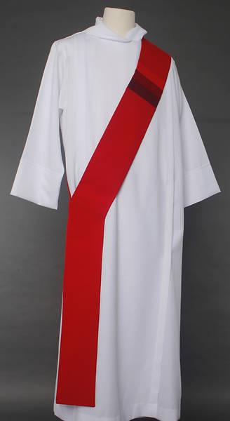 Picture of Triune Stripe Deacon Stole - Red