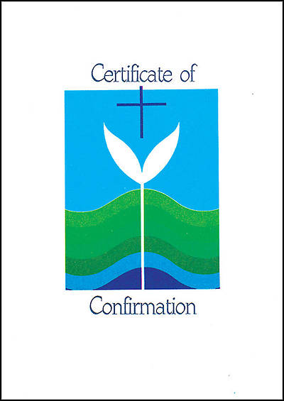 Contemporary Full-Color Confirmation Folded Certificate (package of 12)