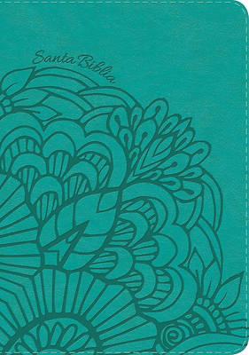 Picture of NVI Biblia Letra Super Gigante, Aqua Simil Piel Con Indice