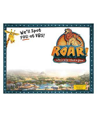 Vacation Bible School (VBS19) Roar Publicity Posters (pkg of 5)