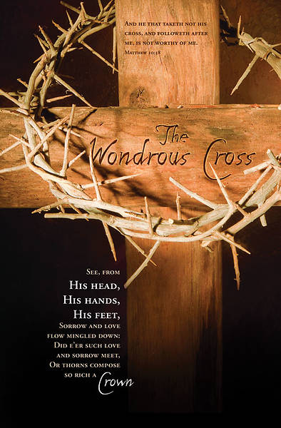 Wondrous Cross/ Matthew 10:38 Good Friday Bulletin, Regular (Package of 100)